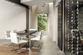 home wine room lighting effect. The Inset Wine Room Creates A Picturesque Kitchen Feature, Framed By Hanging Barn Door With Raw Steel Sliders. Walls Throughout House Feature Home Lighting Effect O