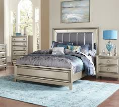 Silver Mirrored Bedroom Furniture Homelegance 1839 1 Hedy Silver Queen Bed