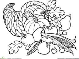 Color The Cornucopia Teachers Stuff Pinterest Coloring Pages