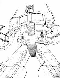 Small Picture Transformers Optimus Optimus Prime Pictures To Color Coloring Page