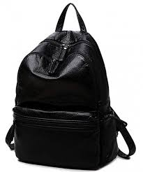 waterproof backpack washed leather travel