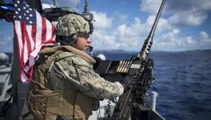 Gunners Mate 1st Class Christopher Paul Fires An M4a1 Carbine Usa