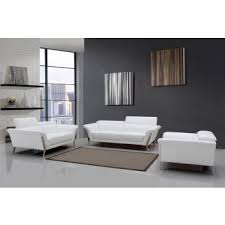 divani casa ronen modern white leather sofa set modern white couch45 modern