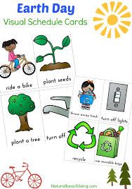 Earth Day Visual Schedule Printable - Natural Beach Living