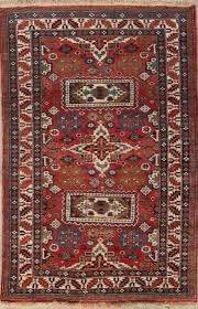 one of a kind geometric kazak caucasian tribal oriental 5 6 x 3 7 wool rug for