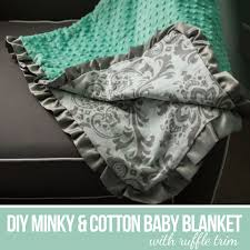 6 minky and cotton baby blanket