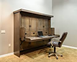 office desk bed. Mission Style Disappearing Desk Bed In Quarter Sawn Oak Wood With Driftwood Finish Office T