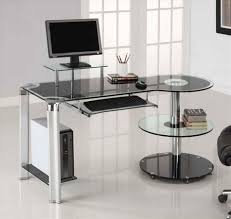 contemporary glass office desk. Design Work Modern Otbsiucom Glass Office Desk Whalen Newport Wood And L Hayneedle Contemporary D