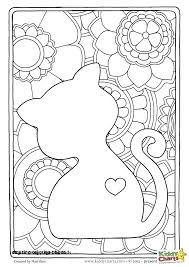 Cat And Dog Coloring Pages To Print At Free Coloring Pages Dogs And