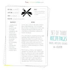 Full Page Recipe Template Free Homemade Cookbook Template Full Page Recipe Templates Free
