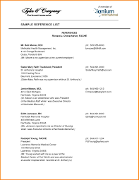 Example Of Reference 9 Resume Reference Page Example Happy Tots