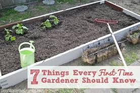 7 things every first time gardener