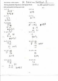 quadratic equations algebra 2 worksheet tessshlo solving quadratic expressions by factoring