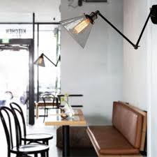 industrial loft lighting. Sconce Swing Arm Wall Sconces Vintage Adjustable Lamp Industrial Brace Light Lamps Loft Lighting Glass Lampshade E27 Edison -in From Lights