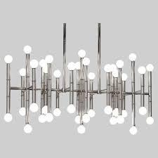 robert abbey jonathan adler meurice polished nickel 42 light led chandelier