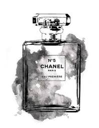 chanel wall art. 16x20 chanel no5 water color printed art in grey by hellomrmoon wall s