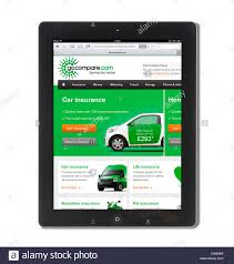 the insurance comparison website gocompare com com viewed on an ipad 4 uk