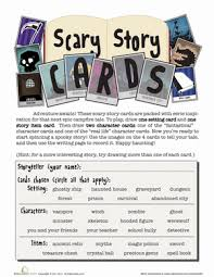 scary story card game worksheet com fourth grade holidays seasons worksheets scary story card game