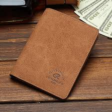 men short wallet student ultra thin leather wallet men ticket money clip vertical brown