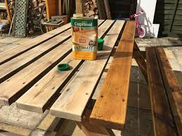 how to re garden furniture wood