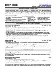 Biotechnology Resume Templates Samples Examples Resume