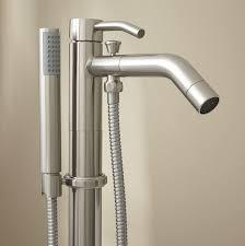 Complete Chrome Addon Shower Combo Set For Clawfoot Tub  Faucet Bath Shower Combo Faucet