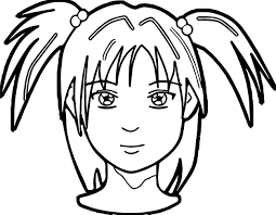 Small Picture Anime Girl Face Coloring Page Wecoloringpage