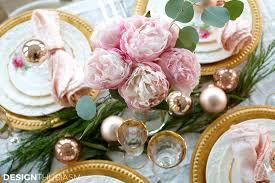Christmas Table Setting Elegant Christmas Table Setting With Pink And Gold