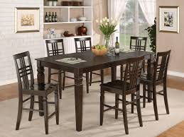 bar height dining table set. 22 Top Comfortable Bar Height Dining Table Sets Design Ideas : Classy Rectangular Solid Wood Set