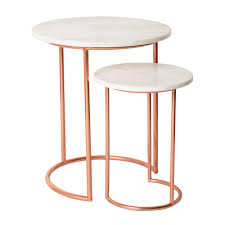 Small Picture Muse Marble Copper Nesting Tables Oliver bonas Tables and Marbles