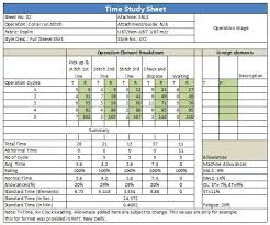 time study templates excel 28 images of lean time study template infovia net