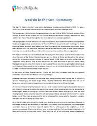 example about raisin in the sun essay prompts each character from a raisin in the sun had a deferred dream even little travis although his dream was not directly stated in 1959 the dream was to work