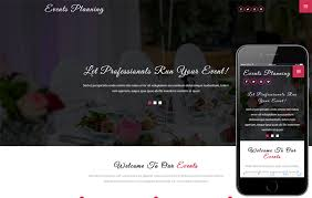 Event Website Template Enchanting Events Planning A Wedding Category Bootstrap Responsive Web Template