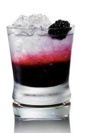blackberries and lemonade with three olives loopy vodka black swan red black mixed drinks