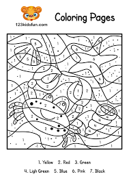 color by number summer coloring pages