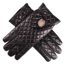 Ladies Black Leather Quilted Gloves with Cashmere Lining To Buy ... & Black Quilted Leather Gloves - Cashmere Lined Adamdwight.com