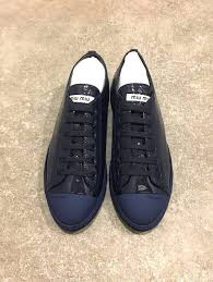 miu miu prada navy blue glossy patent leather sneakers 36 6 women s fashion shoes on carou