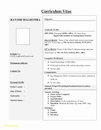 Resume Format Mechanical Engineer Fresher Best Of Resume Format For