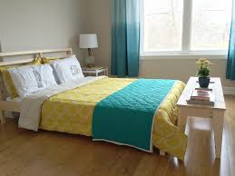 Teal And Yellow Bedroom Ikea Nornas Bench Tarva Bed Frame Hack The Diviners