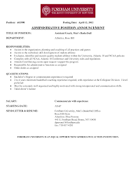 Unusual Assistant Basketball Coach Resume Objective Images Example