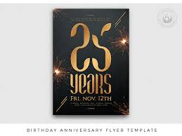 anniversary poster template birthday anniversary flyer template by lionel laboureur dribbble