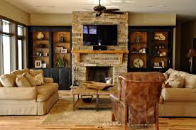 Fireplace Built Ins Stone Fireplace With Built Ins