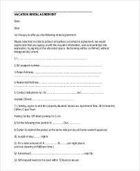 Sample Vacation Rental Agreement | Kicksneakers.co