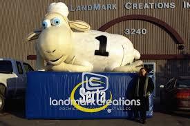 Inflatable Sheep Retail Display Serta Mattress Company