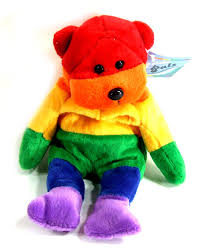 Rainbow Bear Plush