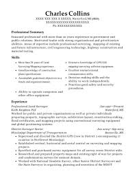 Keith Knighton Pls Professional Land Surveyor Resume Sample ...