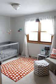 ikea orange and white rug