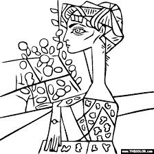 Small Picture Pablo Picasso Portrait of Jacqueline Roque with