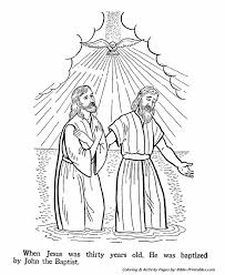Small Picture John the Baptist Coloring Pages The baptism of Jesus Bible