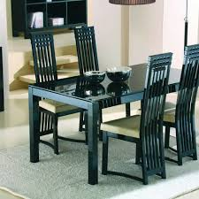 attractive gl topped dining table and chairs dining room great dining table gl top dining table